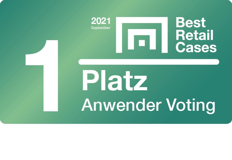 Best Retail Cases Anwender Voting 2021 1. Platz